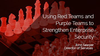 Using Red Team and Purple Teams